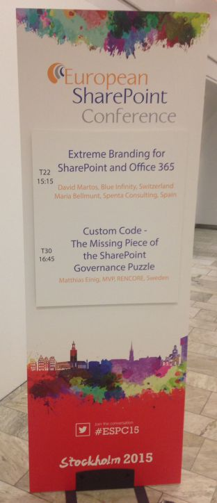 European SharePoint Conference à Stockholm